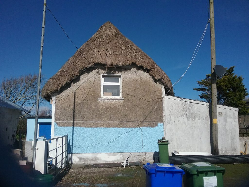 Straw thatched Cottage in Wexford, Ireland.