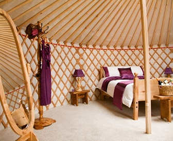Interior of a Glamping Yurt - Yurts